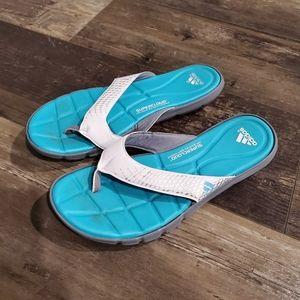 Adidas flip flops 9